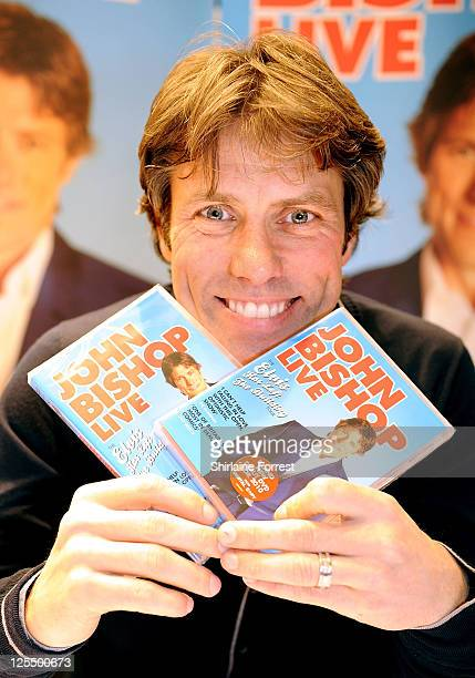 John Bishop signs copies of his new DVD 'John Bishop Live' at HMV on November 16 2010 in Liverpool England