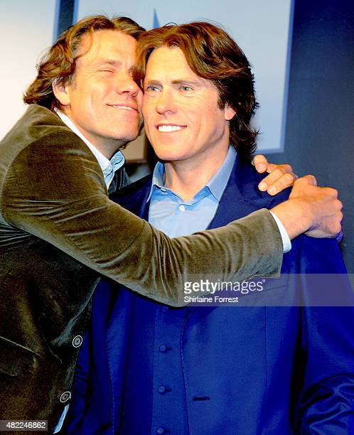 John Bishop unveils his new wax figure at Madame Tussauds Blackpool on July 29 2015 in Blackpool England