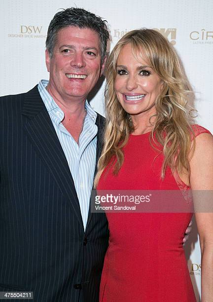 John Bluher and reality TV personality Taylor Armstrong attend OK Magazine's PreOscar event with special guest DJ Havana Brown at Greystone Manor...