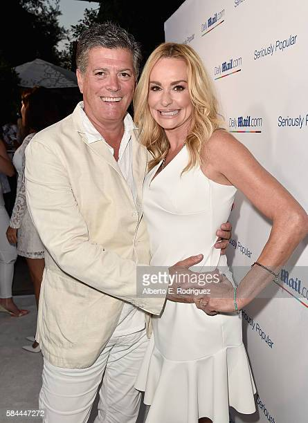 John Bluher and TV personality Taylor Armstrong attend the Daily Mail Summer White Party with Lisa Vanderpump at Pump on July 27 2016 in Los Angeles...