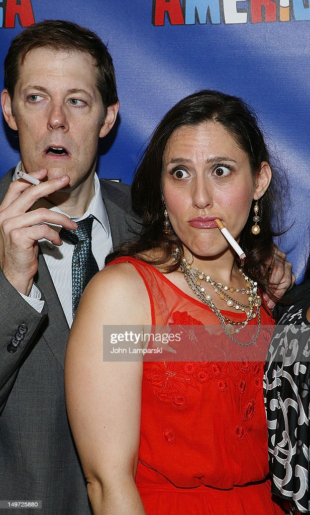 John Bolton and Farah Alvin attend 'The Last Smoker In America' Hosts 'Smoke-in/Smoke-Out' at The Westside Theatre on August 2, 2012 in New York City.