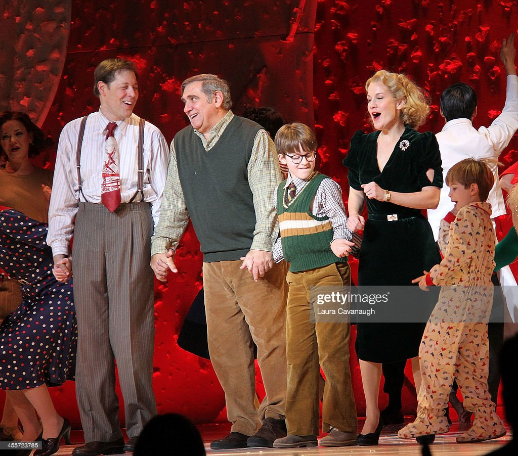 John Bolton Dan Lauria Jake Lucas Erin Dilly and Noah Baird attend opening night of 'A Christmas Story' at The Theater at Madison Square Garden on...