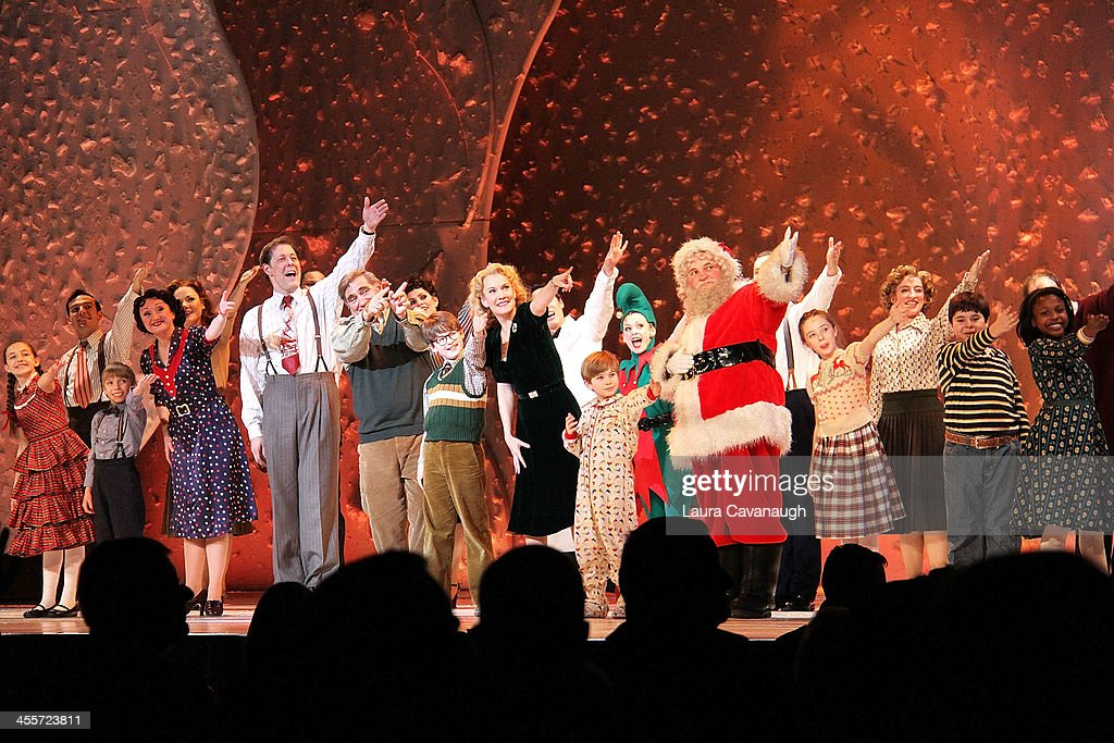 John Bolton Dan Lauria Jake Lucas Erin Dilly Noah Baird and Santa Claus attend opening night of 'A Christmas Story' at The Theater at Madison Square...