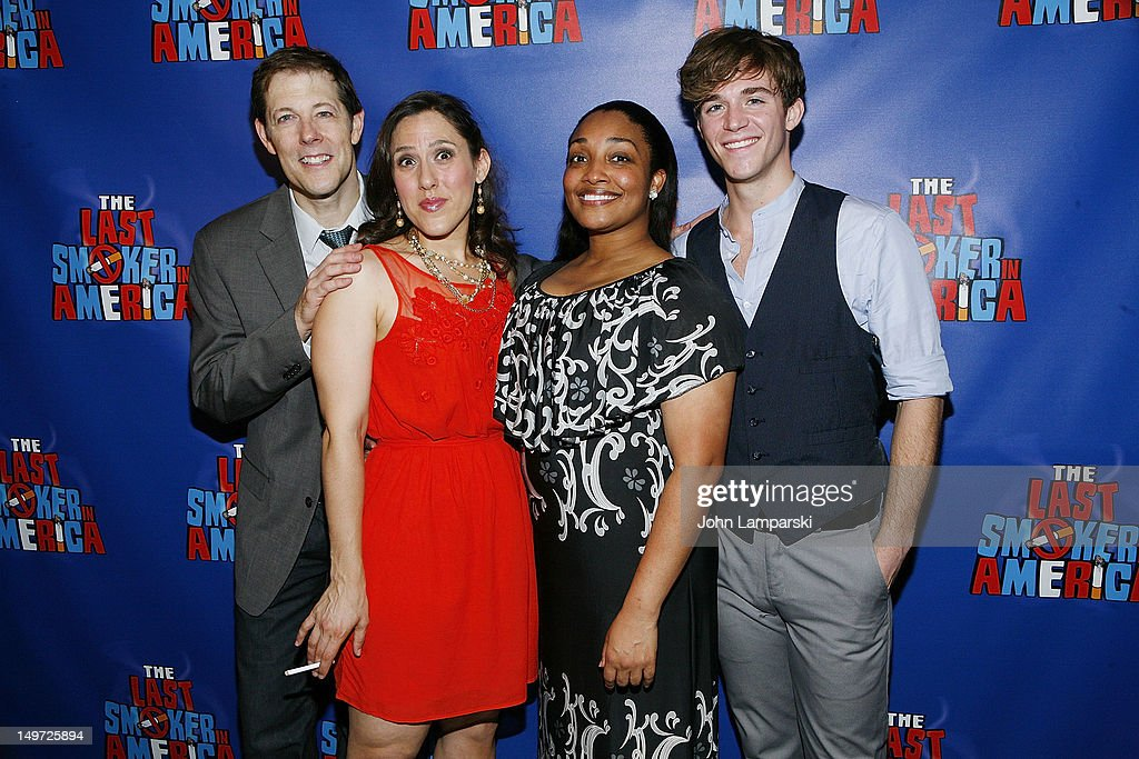 John Bolton, farah Alvin, Natalie Venetia Belcon and Jake Boyd attend 'The Last Smoker In America' Hosts 'Smoke-in/Smoke-Out' at The Westside Theatre on August 2, 2012 in New York City.