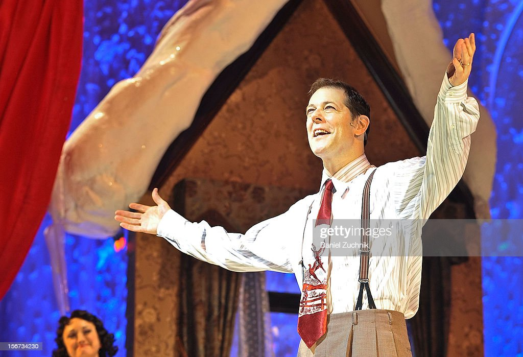 John Bolton performs during 'A Christmas Story: The Musical' broadway opening at Lunt-Fontanne Theatre on November 19, 2012 in New York City.