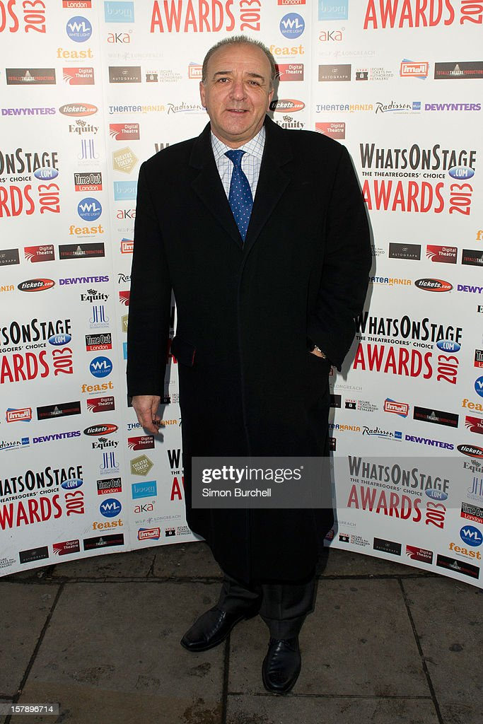 John Bowe attends the Whatsonstage.com Theare Awards nominations launch at Cafe de Paris on December 7, 2012 in London, England.
