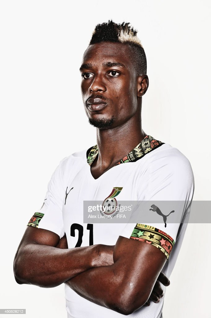 <a gi-track='captionPersonalityLinkClicked' href=/galleries/search?phrase=John+Boye&family=editorial&specificpeople=7190220 ng-click='$event.stopPropagation()'>John Boye</a> of Ghana poses during the official FIFA World Cup 2014 portrait session on June 11, 2014 in Maceio, Brazil.