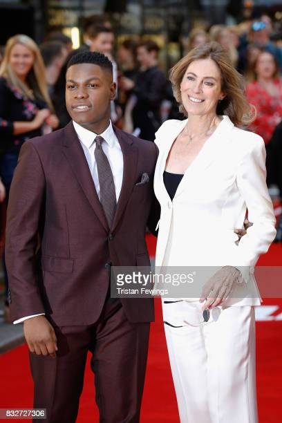John Boyega and director Kathryn Bigelow arrive at the 'Detroit' European Premiere at The Curzon Mayfair on August 16 2017 in London England