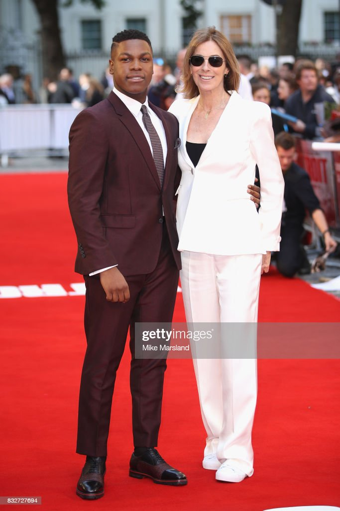 John Boyega and director Kathryn Bigelow arrive at the 'Detroit' European Premiere at The Curzon Mayfair on August 16, 2017 in London, England.