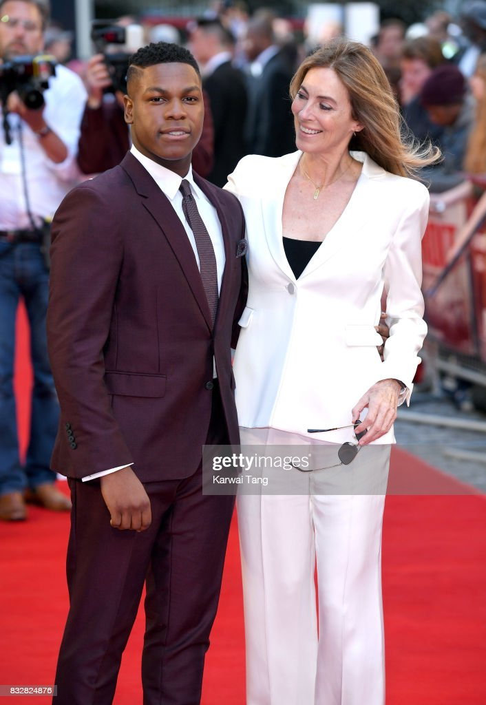 John Boyega and Kathryn Bigelow arrive for the European Premiere of 'Detroit' at The Curzon Mayfair on August 16, 2017 in London, England.