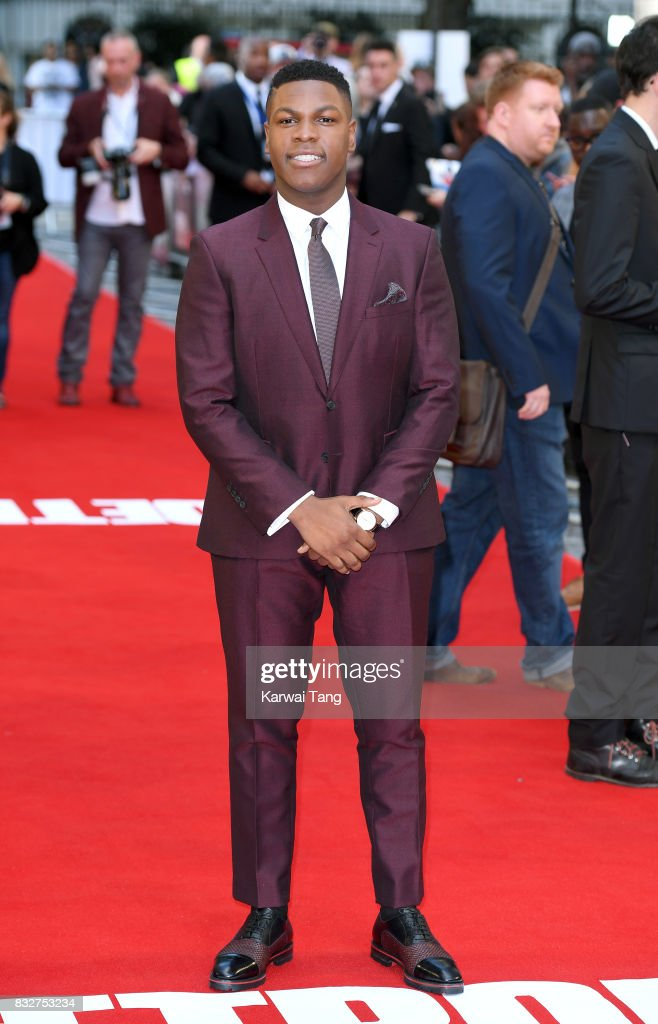 John Boyega arrives for the European Premiere of 'Detroit' at The Curzon Mayfair on August 16, 2017 in London, England.