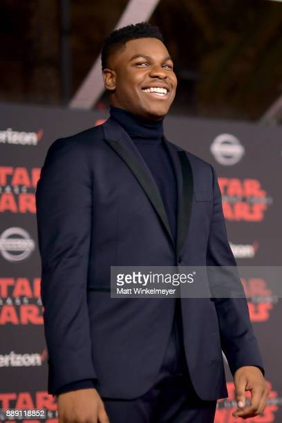 John Boyega attends the premiere of Disney Pictures and Lucasfilm's 'Star Wars The Last Jedi' at The Shrine Auditorium on December 9 2017 in Los...