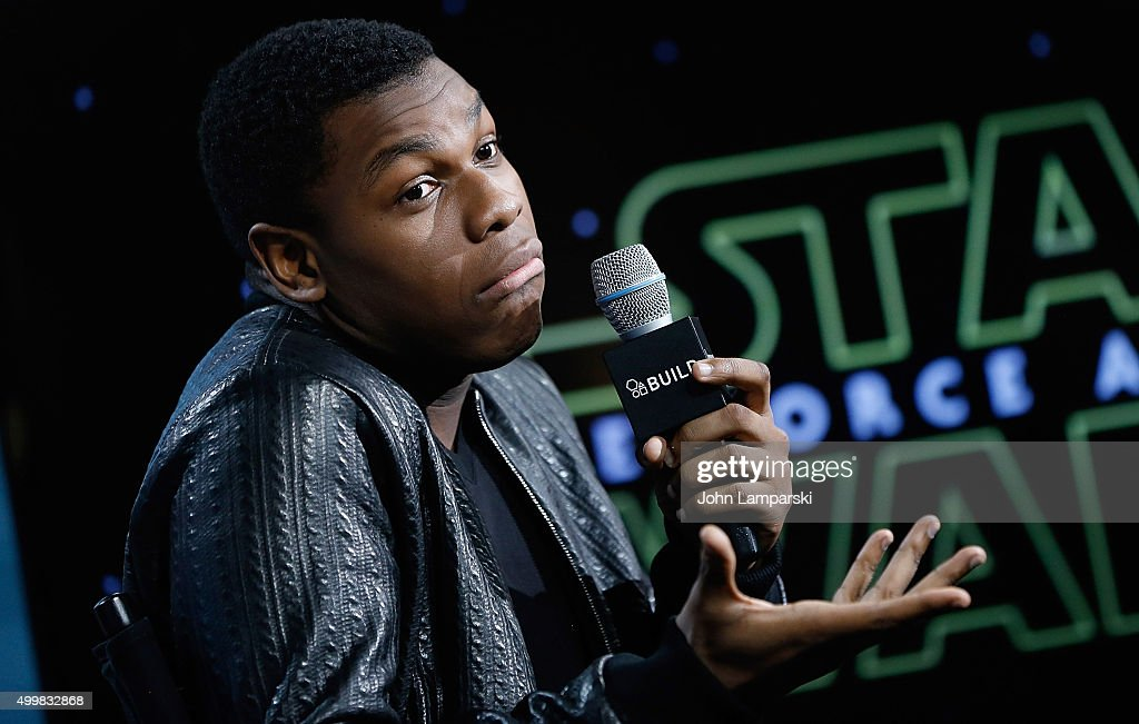 John Boyega from 'Star Wars, The Force Awakens' speaks during AOL Build at AOL Studios In New York on December 3, 2015 in New York City.