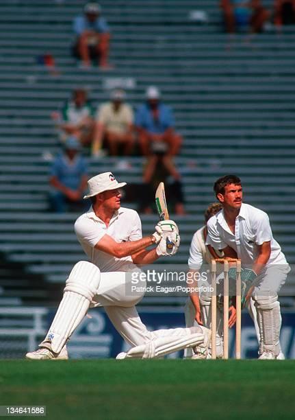 John Bracewell and Bruce French New Zealand v England 2nd Test Auckland Feb 88