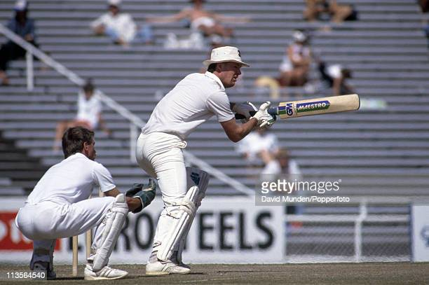John Bracewell batting for New Zealand during the 2nd Test match against England in Auckland on the 29th February 1988 The match ended in a draw