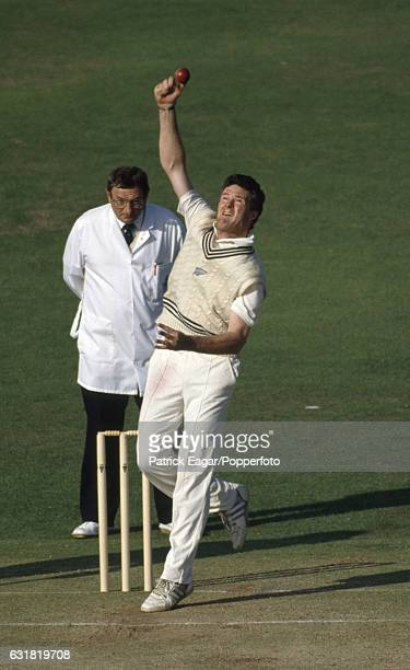 John Bracewell bowling for New Zealand during the 2nd Test match between England and New Zealand at Lord's Cricket Ground London 22nd June 1990 The...