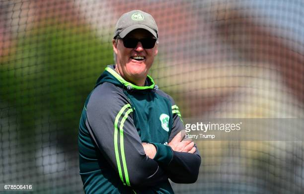 John Bracewell Head Coach of Ireland during an England Ireland Nets Session at The Brightside Ground on May 4 2017 in Bristol England