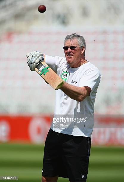 John Bracewell the New Zealand coach during the New Zealand nets session at Trent Bridge on June 4 2008 in Nottingham England