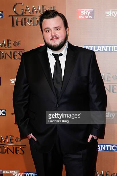 John Bradley arrives at the Tower of London for the world premiere of Game of Thrones S5 which starts on April 12 on Sky in Germany and Austria on...