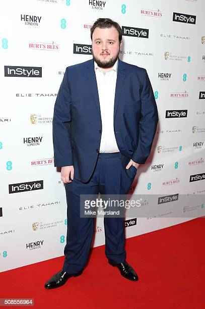 John Bradley attends the InStyle EE Rising Star PreBAFTA Party at 100 Wardour Street on February 4 2016 in London England
