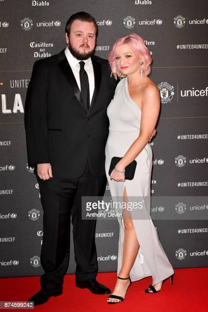 John Bradley West and guest attend the United for Unicef Gala Dinner at Old Trafford on November 15 2017 in Manchester England