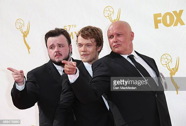 John BradleyWest Alfie Allen and Conleth Hill arrive at the 67th Annual Primetime Emmy Awards at the Microsoft Theater on September 20 2015 in Los...