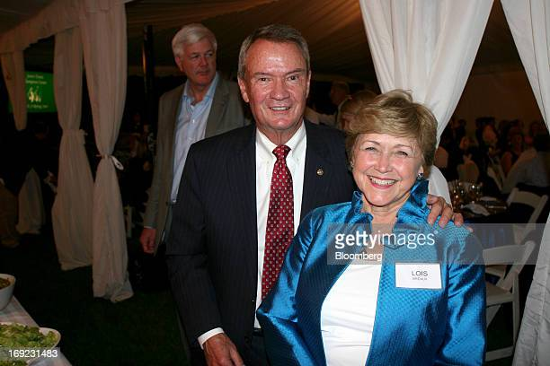 John Breaux former US senator and senior counsel of Patton Boggs LLP left and his wife Lois Breaux attend a dinner at the residence of the Swedish...