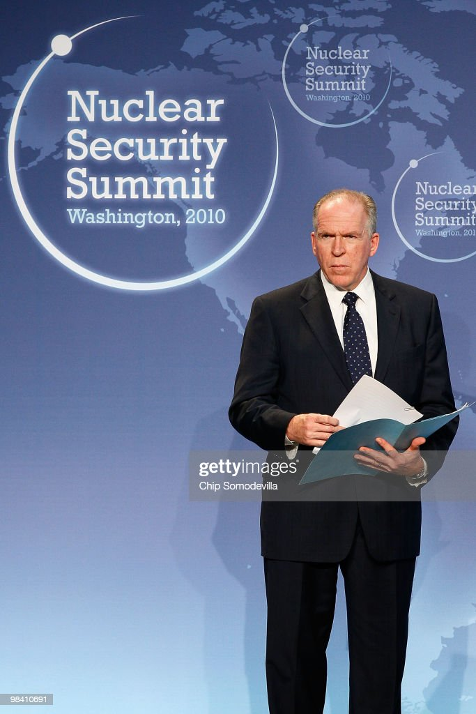 John Brennan, Assistant to the President for Homeland Security and Counterterrorism, listens to reporters' questions during a news briefing during the Nuclear Security Summit at the Washington Convention Center April 12, 2010 in Washington, DC. The two-day summit in the nation's capital has drawn dozens of leaders from around the world to discuss nuclear security.