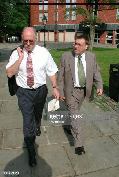 John Bridge and Terry Parnell who represent the 28yearold woman who has accused Neil and Christine Hamilton of a serious sexual assault arrive at a...