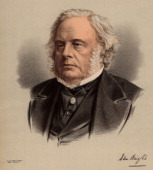 John Bright British radical statesman born in Rochdale Lancashire Anti Corn Law League Reform Act 1867 From 'The National Portrait Gallery' Tinted...