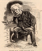 John Bright English radical statesman born in Rochdale Lancashire AntiCorn Law League Reform Act 1867 Cartoon by Edward Linley Sambourne in the...