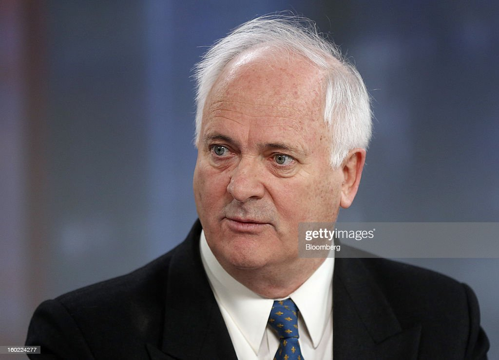 John Bruton, Ireland's former prime minister and current chairman of Ireland's International Financial Services Centre (IFSC), speaks during a Bloomberg Television interview in London, U.K., on Monday, Jan. 28, 2013. Euro-area jobless data this week will expose the social cost of last year's debt crisis and recession on southern European economies as unemployment across the region probably rose to a record in December. Photographer: Simon Dawson/Bloomberg via Getty Images