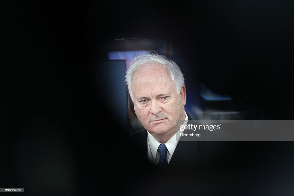 John Bruton, Ireland's former prime minister and current chairman of Ireland's International Financial Services Centre (IFSC), pauses during a Bloomberg Television interview in London, U.K., on Monday, Jan. 28, 2013. Euro-area jobless data this week will expose the social cost of last year's debt crisis and recession on southern European economies as unemployment across the region probably rose to a record in December. Photographer: Simon Dawson/Bloomberg via Getty Images