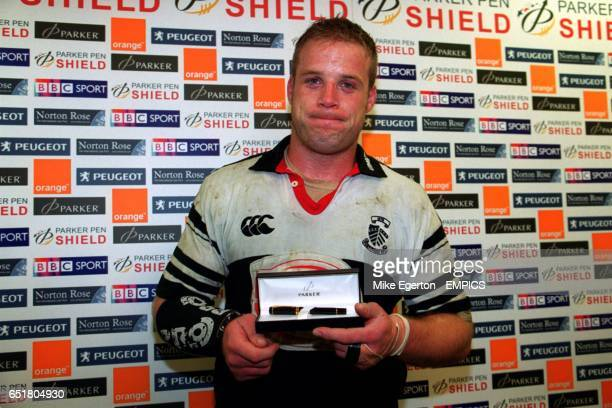 John Bryant Pontypridd receives his Man of the Match award