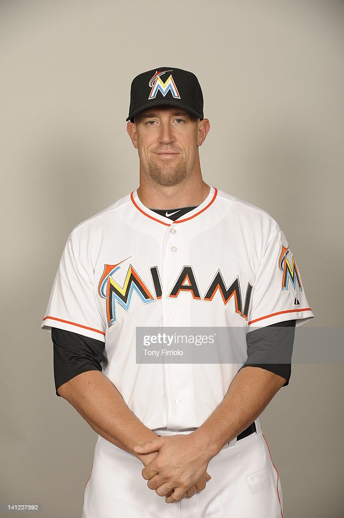 <a gi-track='captionPersonalityLinkClicked' href=/galleries/search?phrase=John+Buck&family=editorial&specificpeople=213730 ng-click='$event.stopPropagation()'>John Buck</a> (14) of the Miami Marlins poses during Photo Day on Monday, February 27, 2012 at Roger Dean Stadium in Jupiter, Florida.
