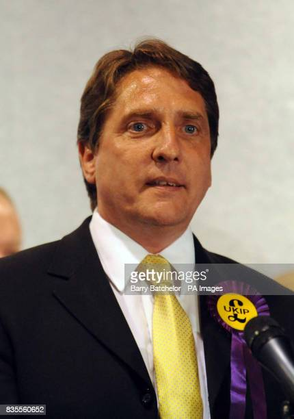 John Bufton UKIP MEP speaks following the results of the European Parliamentary Elections at Haverfordwest