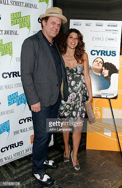 John C Reilly and Marisa Tomei attend the 2010 BAM cinema FEST Opening Night premiere of 'Cyrus' at the BAM Peter Jay Sharp Building on June 9 2010...