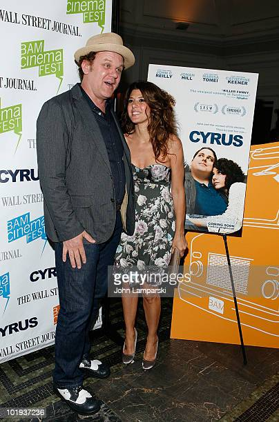 John C Reilly and Marisa Tomei attend the 2010 BAMcinemaFEST Opening Night premiere of 'Cyrus' at the BAM Peter Jay Sharp Building on June 9 2010 in...