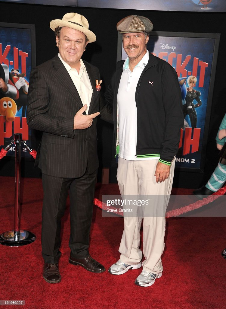 John C. Reilly and Will Ferrell arrives at the 'Wreck It Ralph' - Los Angeles Premiere at the El Capitan Theatre on October 29, 2012 in Hollywood, California.