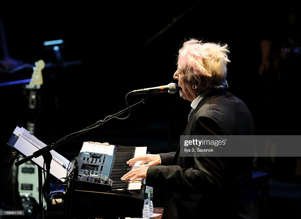 John Cale performs on stage during Life Along The Borderline: A Tribute To Nico at BAM on January 16, 2013 in New York City.