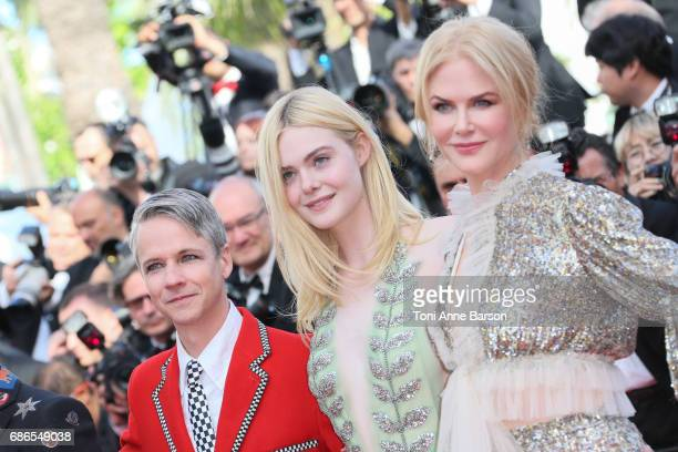 John Cameron Mitchell Elle Fanning Nicole Kidman attend the 'How To Talk To Girls At Parties' screening during the 70th annual Cannes Film Festival...