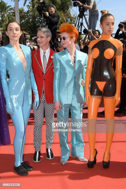 John Cameron Mitchell Sandy Powell and members of the cast attend the 'How To Talk To Girls At Parties' screening during the 70th annual Cannes Film...