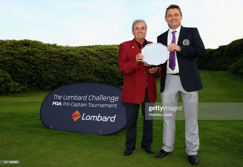 John Campbell and Simon Townend of Wilpshire Golf Club pictured after winning the Lombard Challenge Regional Qualifier at Huddersfield Golf Club on September 3, 2012 in Huddersfield, England.