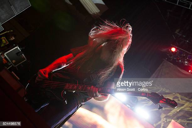 John Campbell bass guitarist for Lamb of God performs at the Hollywood Palladium in Los Angeles CA on Friday February 12 2016 Lamb of God is on tour...