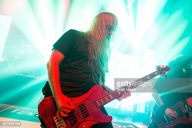 John Campbell of Lamb of God performs at The Royal Oak Music Theater on January 28 2016 in Royal Oak Michigan