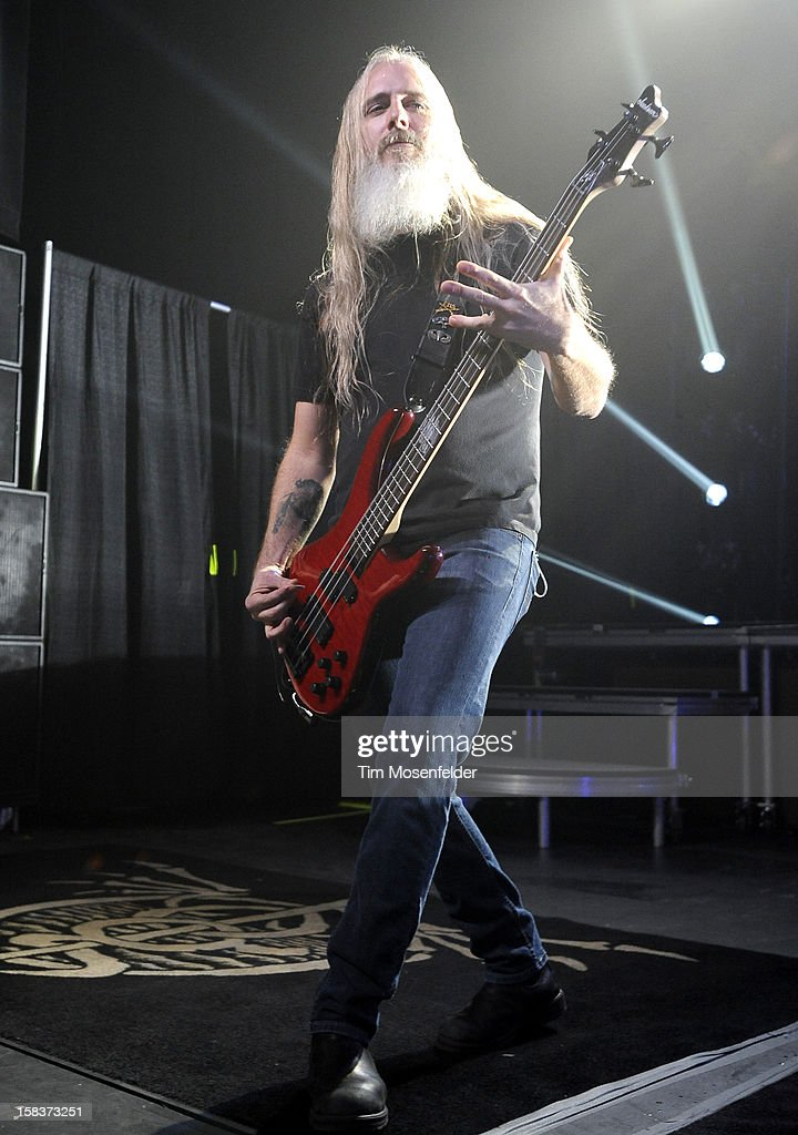 John Campbell of Lamb of God performs in support of the bands' Resolution release at The Warfield on December 13, 2012 in San Francisco, California.