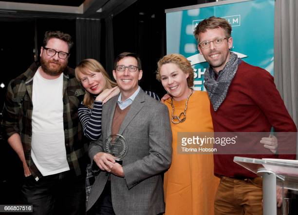 John Canciani Amy Nicholson John Thew Ania Trzebiatowska and Florian Weghorn attend the 2017 Aspen Shortsfest Awards Dinner on April 9 2017 at Aspen...