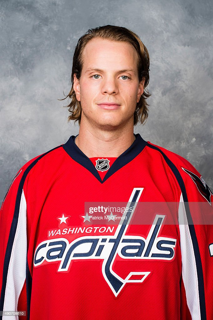 John Carlson of the Washington Capitals poses for his official headshot for the 2015-2016 season on September 17, 2015 at Kettler Capitals Iceplex in Arlington, Virginia.