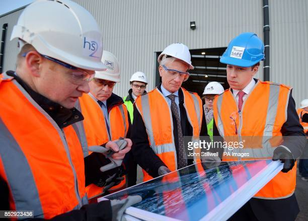 John Castle the senior area engineer for London with Robert Goodwill the Secretary of State for Transport Lord Deighton from the Treasury and Matthew...