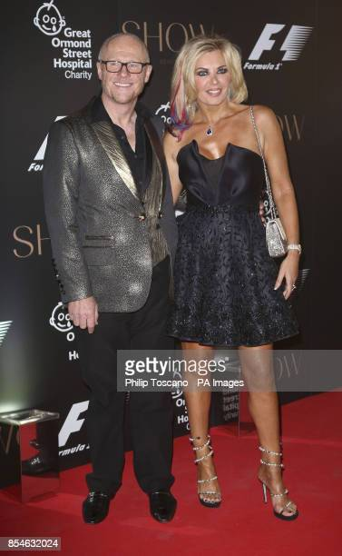 John Caudwell and Claire Johnson arrive at the tenth annual F1 party at the VA museum in central London in aid of Great Ormond Street Hospital...
